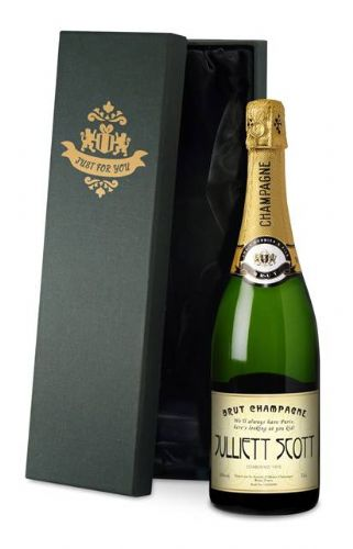 Personalised Champagne Label with Gift Box